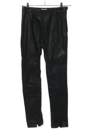 Weekday Lederhose schwarz Casual-Look