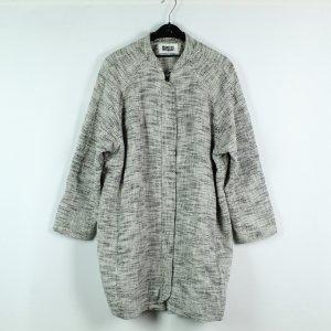 MTWTFSSWEEKDAY Abrigo ancho blanco-negro tejido mezclado
