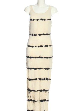 Weekday Maxi abito bianco sporco-nero stampa integrale stile casual