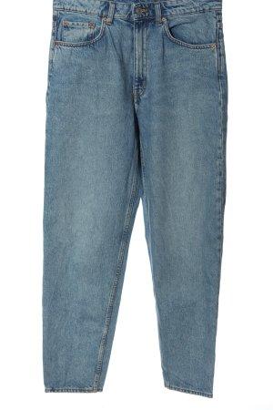 Weekday Mom-Jeans blau Casual-Look