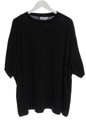 Weekday Camicia oversize nero stile casual