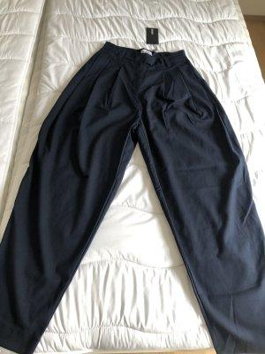 Weekday Baggy broek donkerblauw