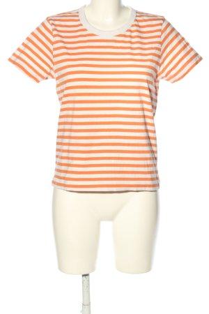 Weekday Koszulka w paski jasny pomarańczowy-biały Na całej powierzchni
