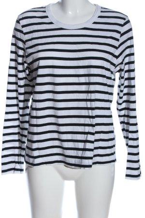 Weekday Ringelshirt weiß-schwarz Streifenmuster Casual-Look