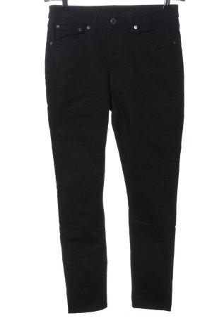 Weekday Jeans a sigaretta nero motivo a righe stile casual
