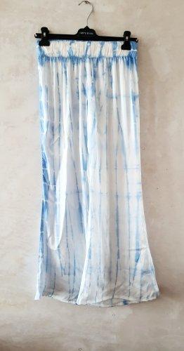 Weekday Pantalone largo bianco-celeste