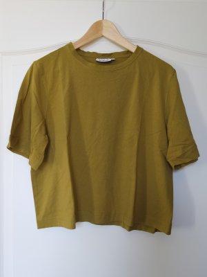 Weekday Shirt Cropped Crop Cropshirt Khaki bauchfrei loose fit