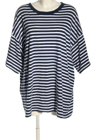 Weekday Shirtkleid blau-weiß Streifenmuster Casual-Look