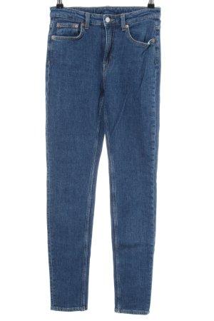 Weekday Skinny Jeans blau Casual-Look