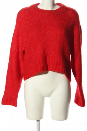 Weekday Strickpullover rot Casual-Look