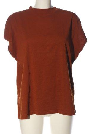 Weekday Gebreid shirt bruin casual uitstraling