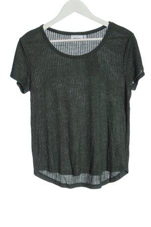 Weekday Camicia maglia cachi stile casual