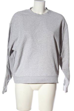 Weekday Sweatshirt hellgrau meliert Casual-Look