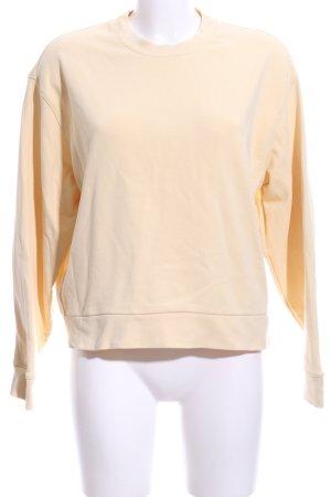 Weekday Sweatshirt blassgelb Casual-Look