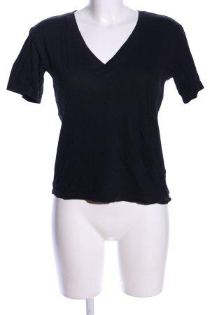 Weekday T-Shirt schwarz Casual-Look