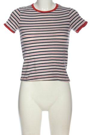 Weekday T-Shirt Streifenmuster Casual-Look