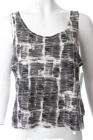 Weekday Tanktop zwart-wit grafisch patroon