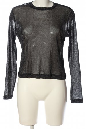 Weekday Transparenz-Bluse schwarz Casual-Look