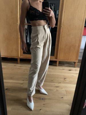 Weekday Peg Top Trousers beige-cream