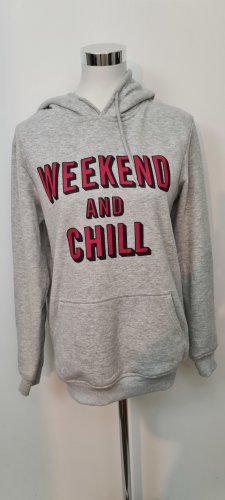 FSBN Hooded Sweatshirt light grey-dark red