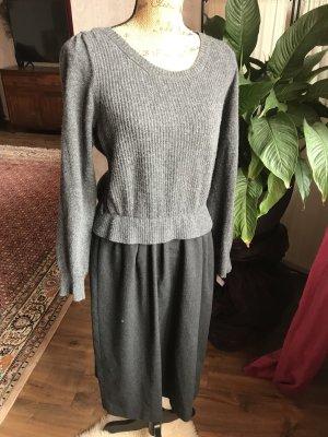 Max Mara Vestito di lana antracite Lana d'angora