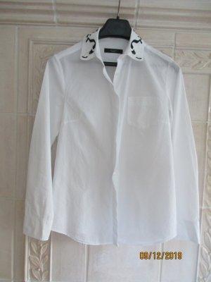 Weekend Max Mara Long Sleeve Blouse white cotton