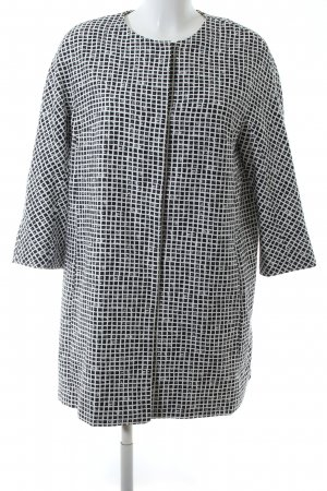 Weekend Max Mara Frock Coat black-white check pattern business style