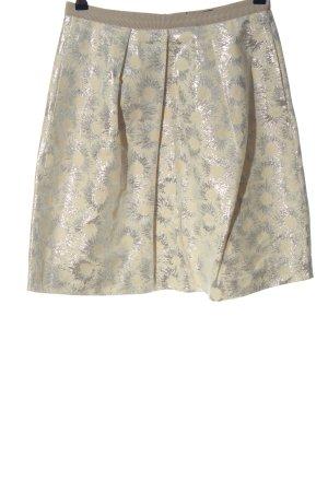 Weekend Max Mara Flared Skirt cream-silver-colored allover print elegant