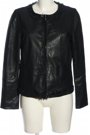 Weekend Max Mara Lederjacke schwarz Casual-Look