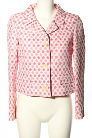 Weekend Max Mara Kurz-Blazer weiß-pink Allover-Druck Casual-Look