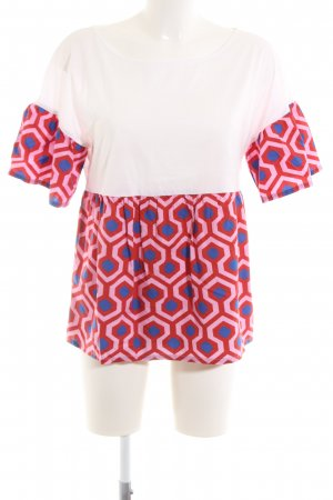 Weekend Max Mara Kurzarm-Bluse grafisches Muster Casual-Look