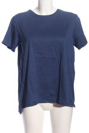 Weekend Max Mara Kurzarm-Bluse blau Casual-Look