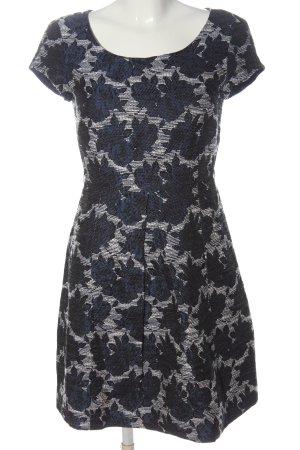 Weekend Max Mara Shortsleeve Dress white-blue allover print elegant