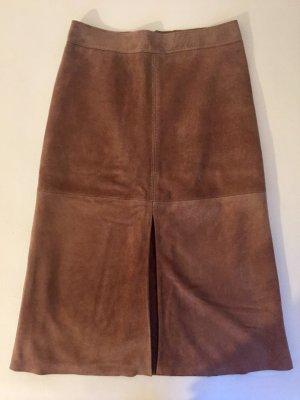 MaxMara Weekend Falda de cuero marrón claro