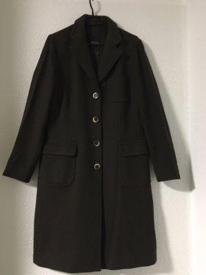 Weekend Max Mara Wełniany płaszcz ciemnobrązowy-brązowy