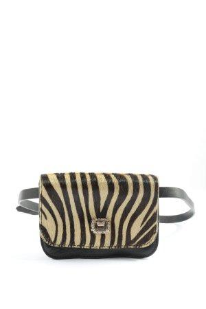 Weekend Max Mara Mini sac brun-blanc motif léopard style décontracté