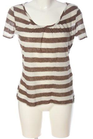 Weekend Max Mara Stripe Shirt natural white-brown striped pattern casual look