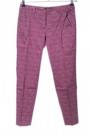 Weekend Max Mara Stoffhose pink-weiß Allover-Druck Casual-Look