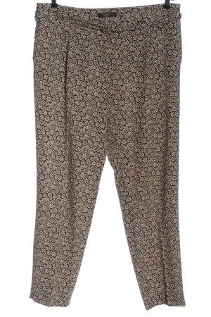 Weekend Max Mara Jersey Pants black-cream allover print casual look
