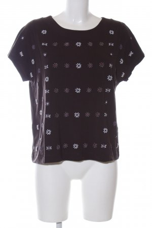 Weekend Max Mara T-Shirt lila Blumenmuster Casual-Look