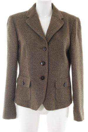 Weekend Max Mara Blazer de lana marrón-color bronce moteado estilo «business»