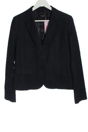 Weekend Max Mara Blazer in lana blu-nero motivo a quadri stile casual
