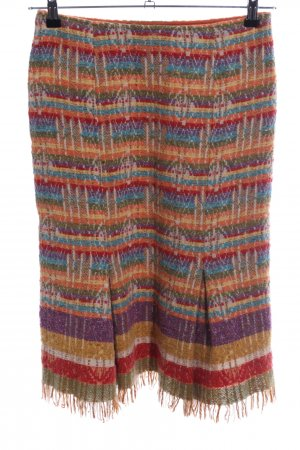 Weekend Max Mara Wool Skirt striped pattern casual look