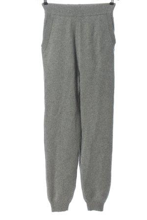 Weekend Stories Woolen Trousers light grey flecked casual look