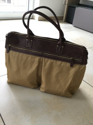 Francesco Biasia Borsa da weekend sabbia-marrone Tessuto misto