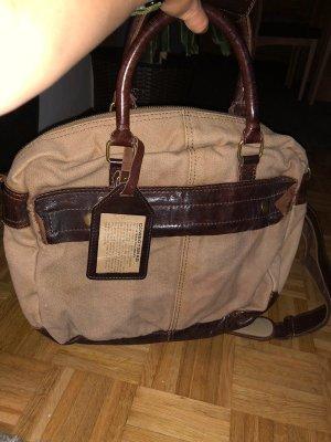 Cowboysbag Torba weekendowa kremowy-brązowy Bawełna