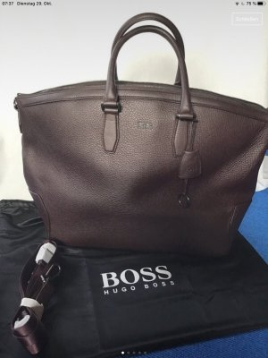 Hugo Boss Borsa da weekend marrone scuro