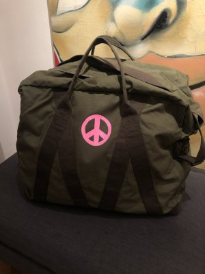 Weekender XXL Reisetasche Khaki Peace Pink Glitzer