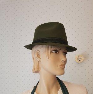 Chapeau en feutre vert foncé mohair