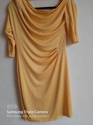.12 puntododici T-shirt jurk sleutelbloem-geel